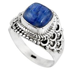925 sterling silver 3.58cts natural blue kyanite solitaire ring size 6.5 p92058