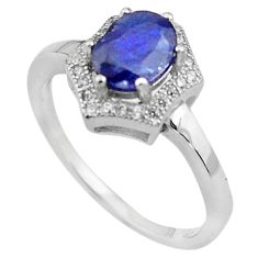 925 sterling silver 3.32cts natural blue sapphire topaz ring size 7.5 c4060
