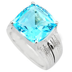 925 sterling silver 7.62cts natural blue topaz ring jewelry size 6.5 c4296
