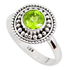 925 sterling silver 1.34cts natural green peridot solitaire ring size 7 p51152
