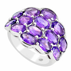 925 sterling silver 14.12cts natural purple amethyst ring jewelry size 6 p62224