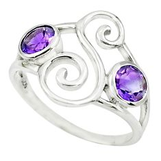 925 sterling silver 1.81cts natural purple amethyst ring jewelry size 7 p62595