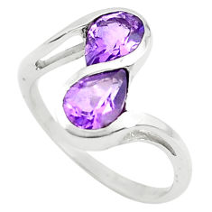 925 sterling silver 3.01cts natural purple amethyst ring jewelry size 5.5 p73264