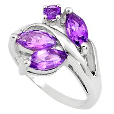 925 sterling silver 5.45cts natural purple amethyst ring jewelry size 8 p81784