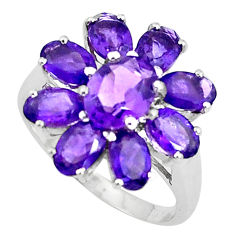 925 sterling silver 10.01cts natural purple amethyst ring size 5.5 p37107