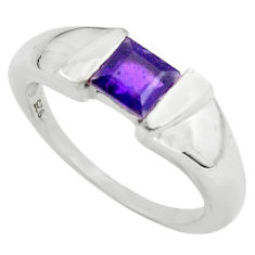 925 sterling silver 1.17cts natural purple amethyst solitaire ring size 7 p73020