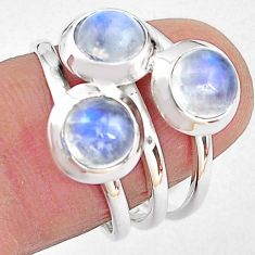 925 sterling silver 3.29cts natural rainbow moonstone ring jewelry size 7 p85814
