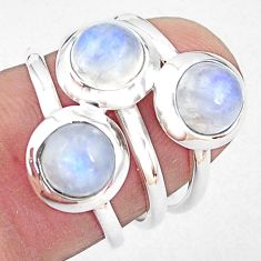 925 sterling silver 3.15cts natural rainbow moonstone ring jewelry size 6 p85817