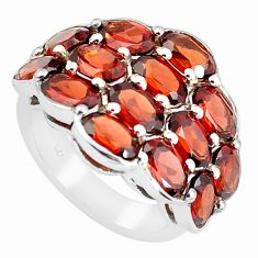 925 sterling silver 15.33cts natural red garnet ring jewelry size 5.5 p62228
