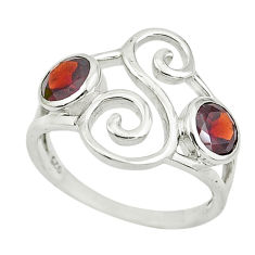 925 sterling silver 2.09cts natural red garnet ring jewelry size 5.5 p62587