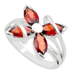 925 sterling silver 5.84cts natural red garnet ring jewelry size 8.5 p62777