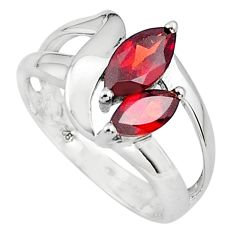 925 sterling silver 5.38cts natural red garnet ring jewelry size 8.5 p81554