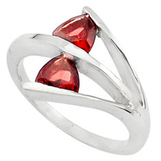 925 sterling silver 1.79cts natural red garnet ring jewelry size 5.5 p81915