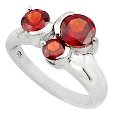 925 sterling silver 3.51cts natural red garnet ring jewelry size 5.5 p81952