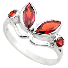 925 sterling silver 4.52cts natural red garnet ring jewelry size 7 p83007