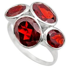925 sterling silver 11.25cts natural red garnet ring jewelry size 6.5 p83104