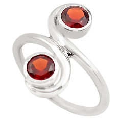 925 sterling silver 1.91cts natural red garnet ring jewelry size 6.5 p83216