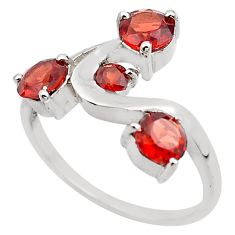 925 sterling silver 3.51cts natural red garnet ring jewelry size 8 p83334