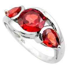 925 sterling silver 7.04cts natural red garnet ring jewelry size 8.5 p83476
