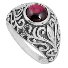 925 sterling silver 2.59cts natural red garnet solitaire ring size 7 d32605