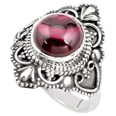 925 sterling silver 4.91cts natural red garnet solitaire ring size 7.5 p85978