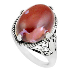 925 sterling silver 9.99cts natural red jasper solitaire ring size 8 p57844
