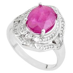 925 sterling silver 5.97cts natural red ruby topaz ring jewelry size 8 c2043
