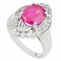 925 sterling silver 6.04cts natural red ruby topaz ring jewelry size 6 c2071