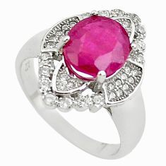 925 sterling silver 6.31cts natural red ruby topaz ring jewelry size 9 c2091