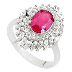 925 sterling silver 6.58cts natural red ruby topaz ring jewelry size 8.5 c2112