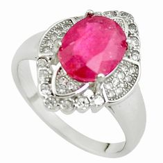 925 sterling silver 5.57cts natural red ruby topaz ring jewelry size 8 c2116