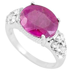 925 sterling silver 6.84cts natural red ruby topaz ring jewelry size 9 c3724