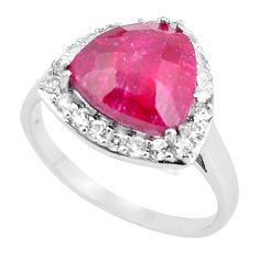 925 sterling silver 7.07cts natural red ruby topaz ring jewelry size 11.5 c3759