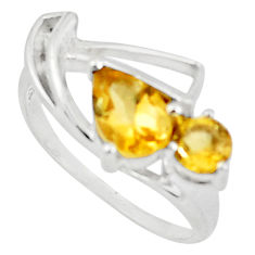 925 sterling silver 2.38cts natural yellow citrine ring jewelry size 6 p73180