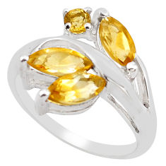 925 sterling silver 4.82cts natural yellow citrine ring jewelry size 7.5 p83384