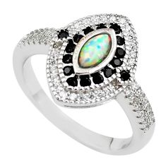 925 sterling silver 2.21cts pink australian opal (lab) topaz ring size 8 c2399