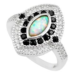 925 sterling silver 4.73cts pink australian opal (lab) topaz ring size 7.5 c2784