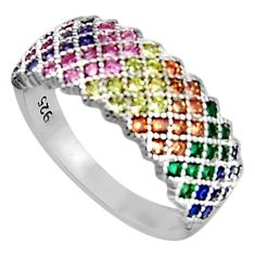 925 sterling silver 2.10cts red ruby (lab) sapphire (lab) ring size 8.5 c5423