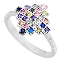 925 sterling silver 1.14cts red ruby (lab) sapphire (lab) ring size 7 c5434