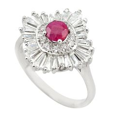 Natural red ruby topaz 925 sterling silver ring jewelry size 9.5 a65714