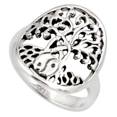 3.48gms indonesian bali 925 silver tree of life ring size 7 c7603