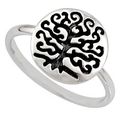 3.24gms indonesian bali solid 925 silver tree of life ring size 9 c7606