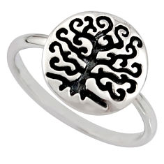 3.26gms indonesian bali solid 925 silver tree of life ring size 7 c7607