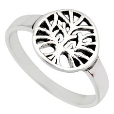 925 silver 2.89gms indonesian style solid tree of life ring size 9 c7608