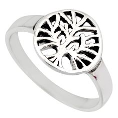 2.69gms indonesian bali solid 925 silver tree of life ring size 4.5 c7609