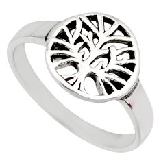 925 silver 2.89gms indonesian bali solid tree of life ring size 8.5 c7611