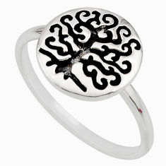3.26gms indonesian bali style solid 925 silver tree of life ring size 10 c7631
