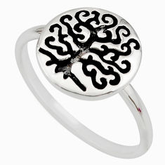 925 silver 3.02gms indonesian bali style solid tree of life ring size 7 c7632