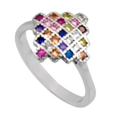 1.32cts pink kunzite (lab) ruby (lab) 925 sterling silver ring size 6 c8017