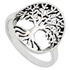 3.02gm indonesian bali style 925 silver tree of connectivity ring size 6.5 c8308